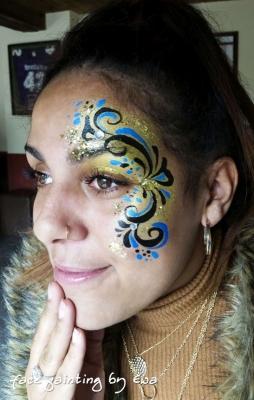 Festival swirls face paint Newport Shropshire