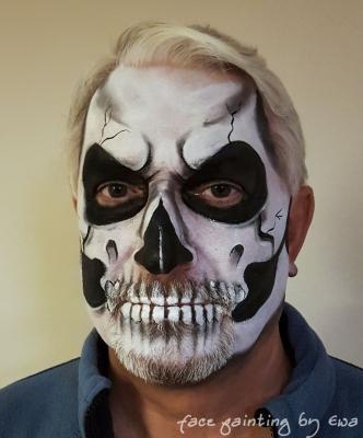 Halloween skull facepaint Newport Shropshire