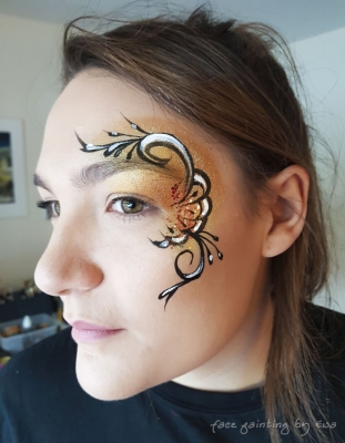 adults face paint eye design Eccleshall