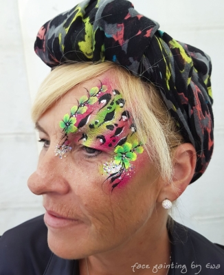 adults face paint eye design Newport Shropshire