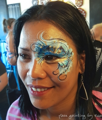 adults face paint festival eye design Telford