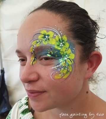 adults face paint flowery eye design Shropshire