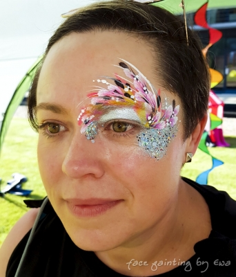 adults face paint flowery eye design Stafford
