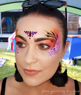 adults face paint gems glitter Telford