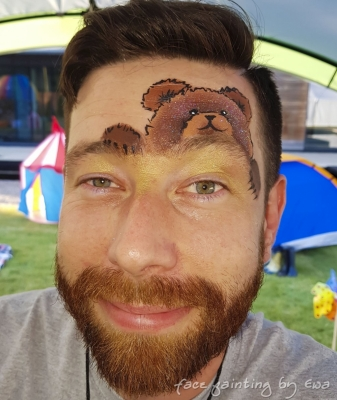 adults face paint teddy bear Telford