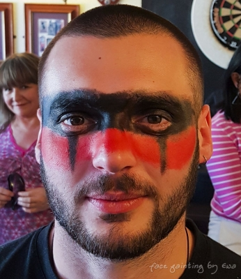 adults face paint tribal Telford