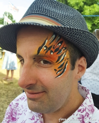 adults face painting animal print telford