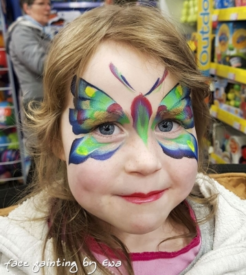 butterfly face painting Shrewsbury