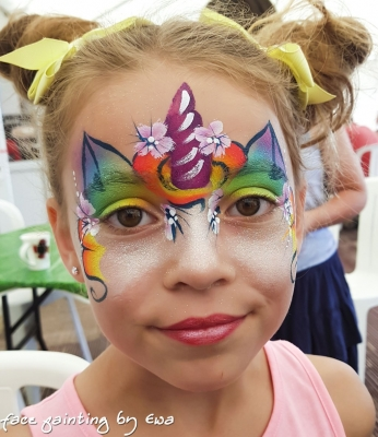 face painting unicorn Newport Shropshire