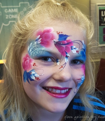 flower fairy face paint Wolverhampton