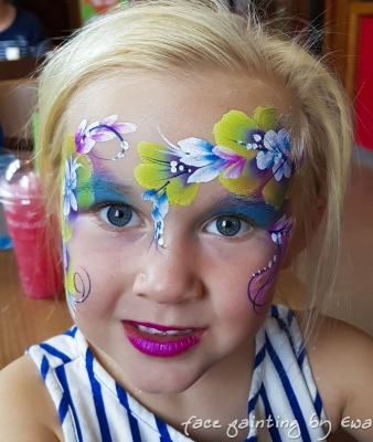 flower fairy face painting Stafford