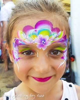 flowery princess face painting wedding Stafford