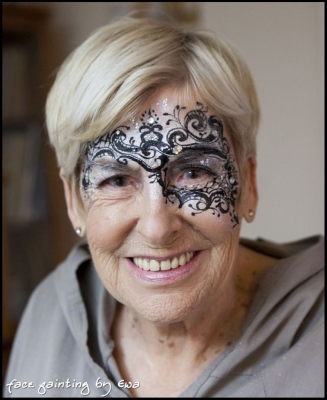 masquerade mask face paint Newport Shropshire