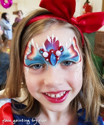 princess face paint Telford