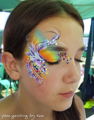 rainbow eye design Telford