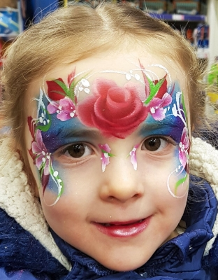 rose princess face painting Shrewsbury