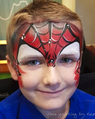 spiderman face paint Wolverhampton