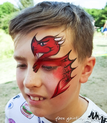 summer fair face painting red dragon Stafford