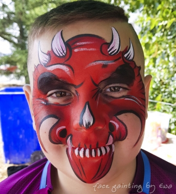 summer fair red monster face painting Telford