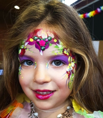 tropical princess face paint Telford