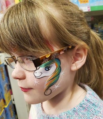 unicorn face painting Shrewsbury